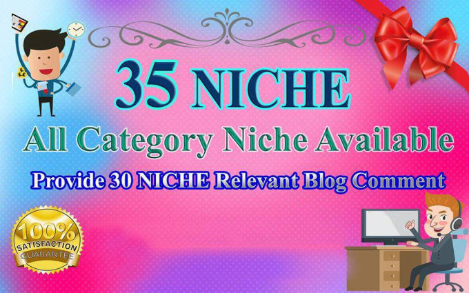 will Provide 35 Niche Relevant Blog Comment High Quality