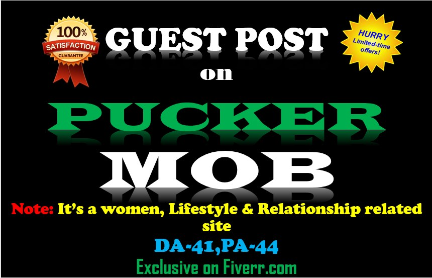 Write and Publish Permanent Guest Post On PuckerMOB