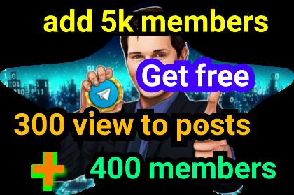 Add 5,000 members to telegram channel