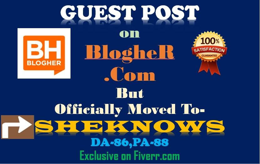 Write and Publish Guest Post On Sheknows DA86