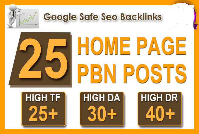 Create 25 High TF CF DA PA Homepage PBN Backlinks Permanent