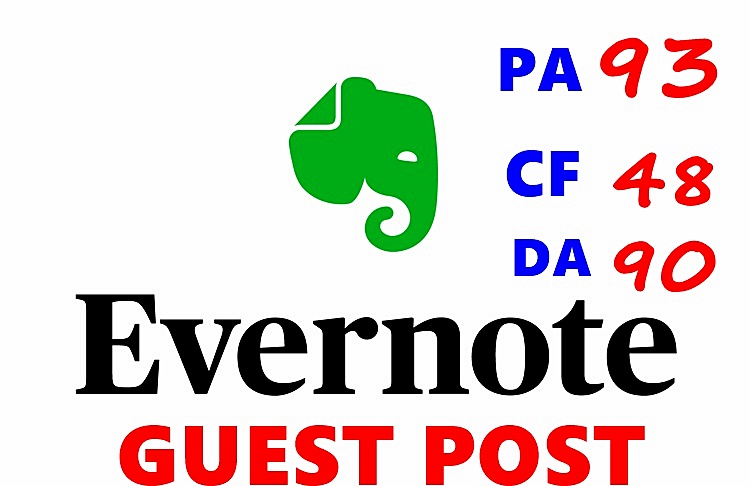 EVERNOTE Authority CHEAP Guest Post - Submit Permanen...