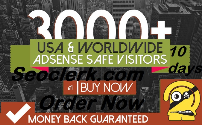 Send 3000 + adsence safe Target Human web traffic