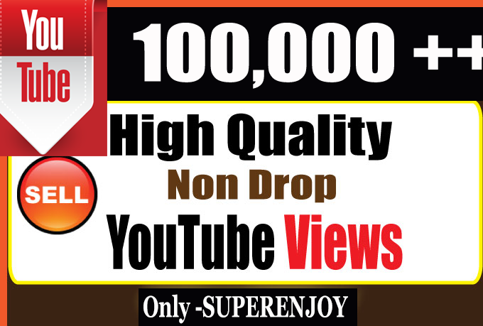Fast Organic 100000 + 100k or 100,000 YouTube Views and video Promotion