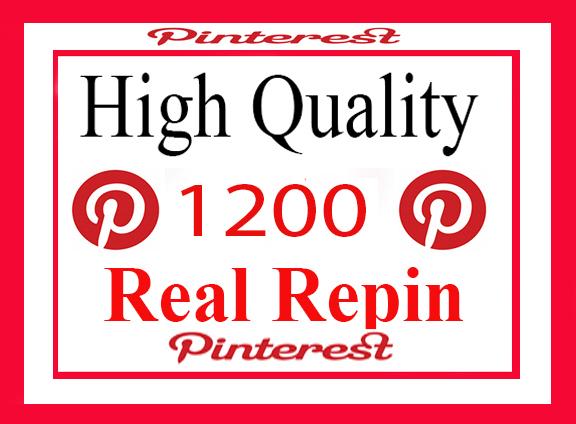 1200 Real And High Repin Pinterest Social Signals