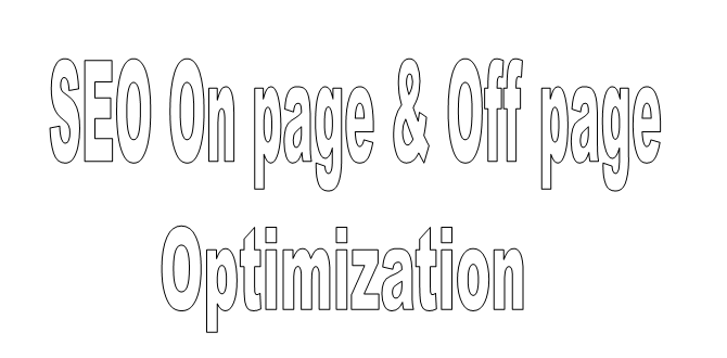 SEO on page and off page optimization
