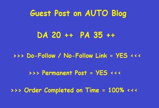 Guest Post on DA 20 Plus Auto blog (Writing + Posting)