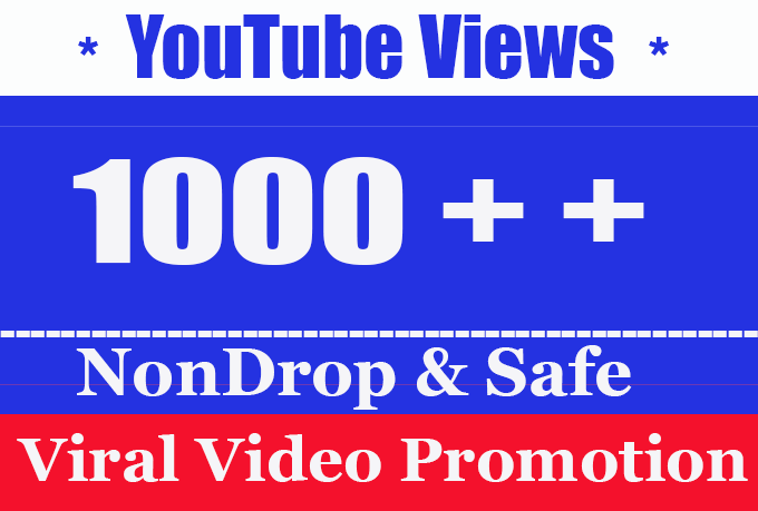Good Quality 1K or 1000 or 1,000 YouTube Views Retention and Nondrop