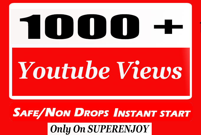 Good Quality 1K or 1000 or 1,000 YouTube Views Retention and Nondrop with choice Extra service 1k , 2k , 5k , 10k, 20k, 200k , 1,000 ,2000, 3000, 4000, 5000, 6000, 7000, 8000, 9000,10000, 20000 and 50