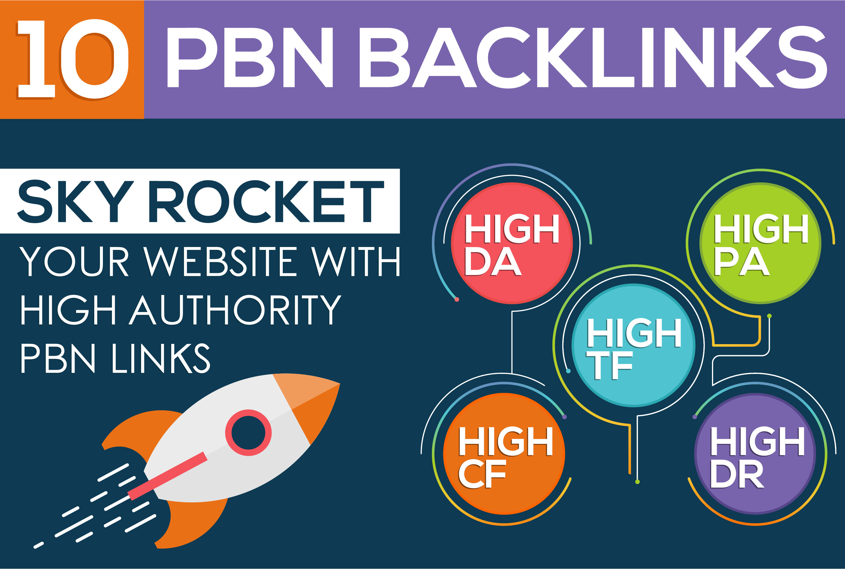 Create 10 HIGH AUTHORITY PBN Backlinks