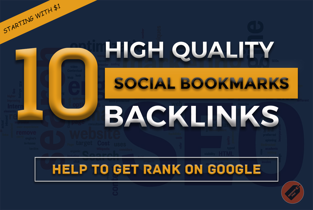 Manually Do 10 Social Bookmarking SEO Backlinks Get R...
