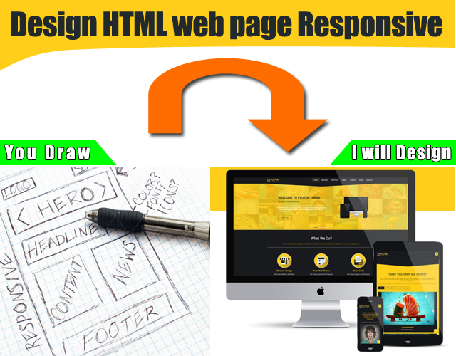 Design responsive HTML single webpage with Bootstrap ...