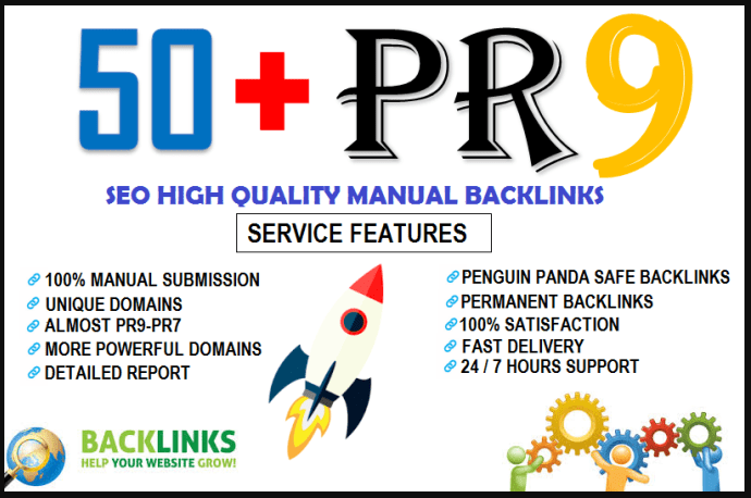 50 Plus pr9 SEO High Authority Backlinks For You