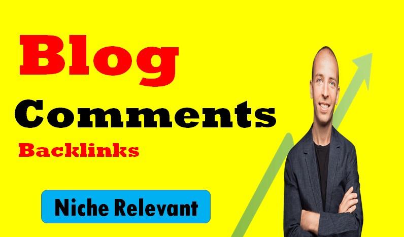 Niche Relevant 50 Manual Blog Comment Backlinks