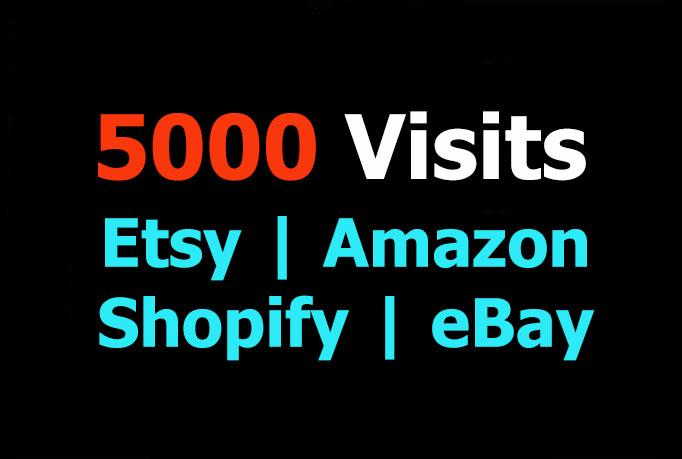 promote your Etsy, Amazon, Shopify, eBay by 5000 v...