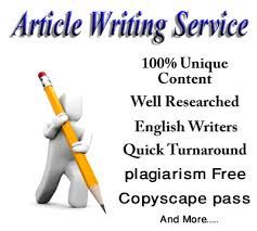 we will provide unique and decent 500 words Article on any topic