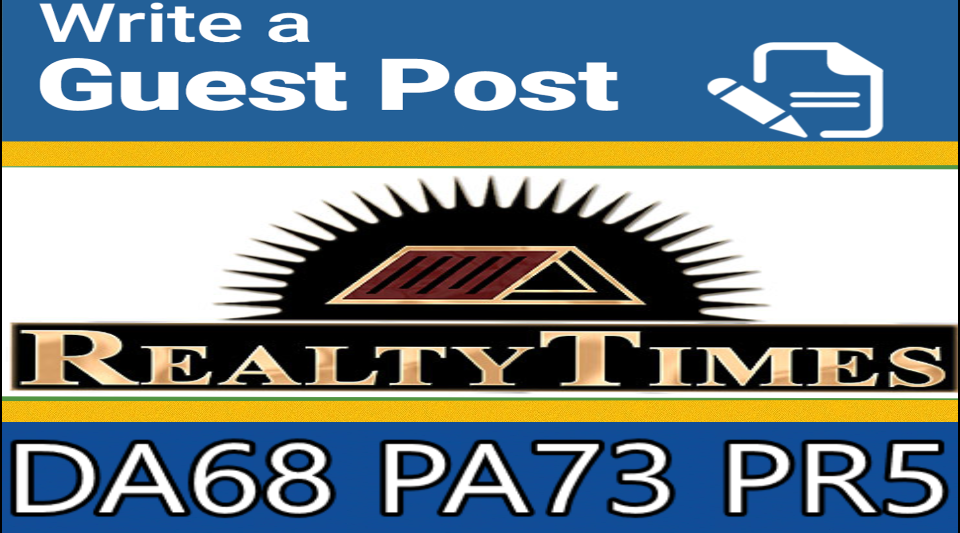 Write and Publish Guest Post On Realtytimes DA68+ with dofollow link