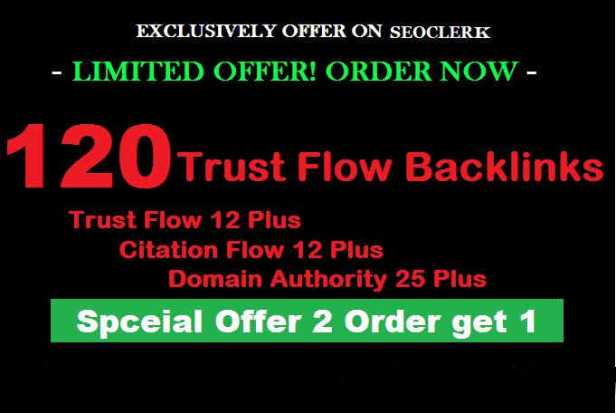 Do 120 High Trust Flow Citation Flow Dofollow Backlinks