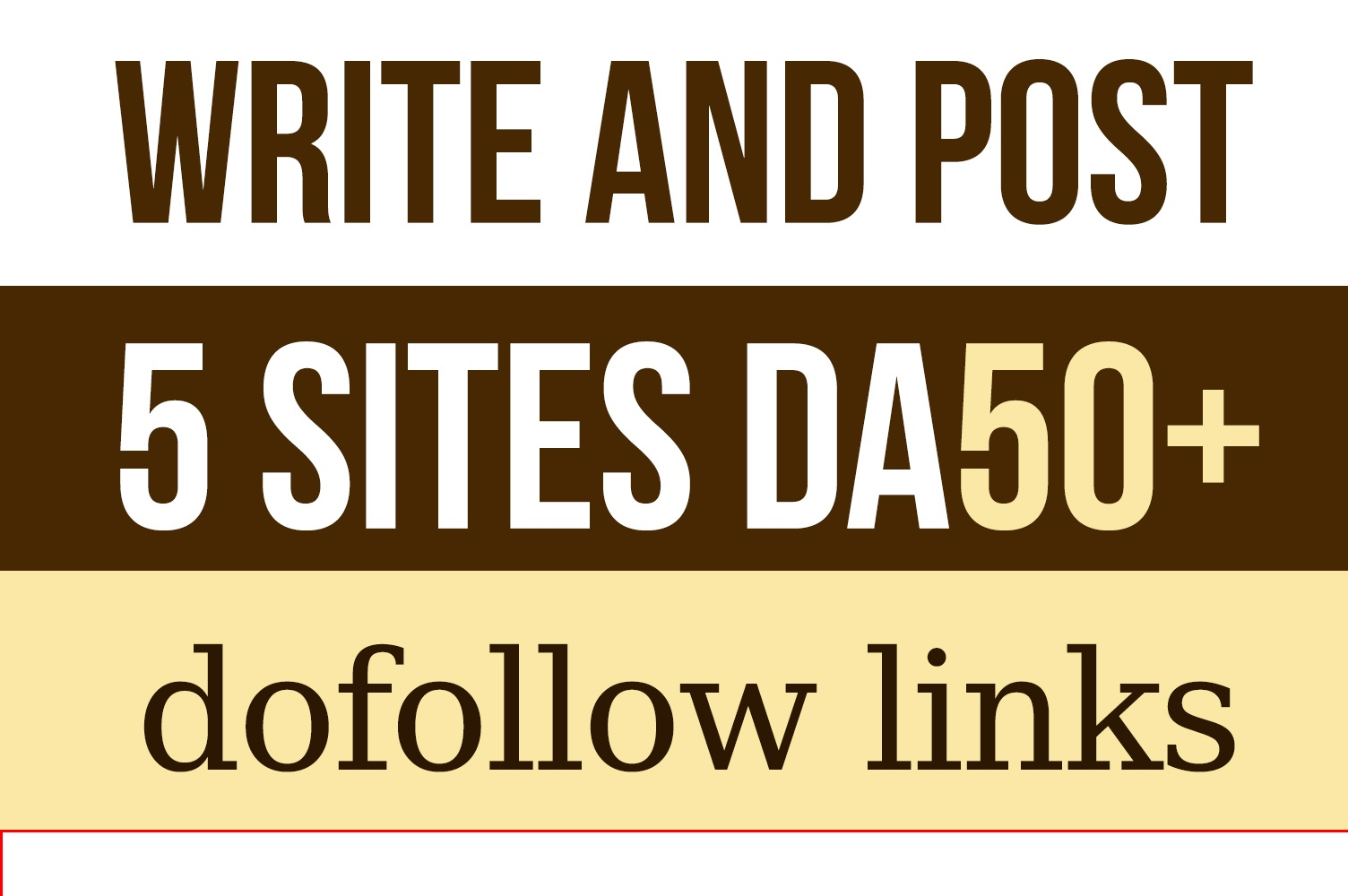Write And Publish 5 Guest Post With Do Follow Backlinks