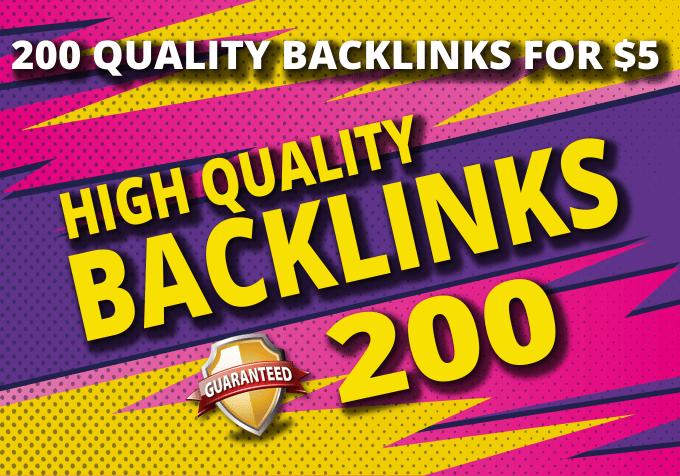 do 200 manual backlinks,  to your website