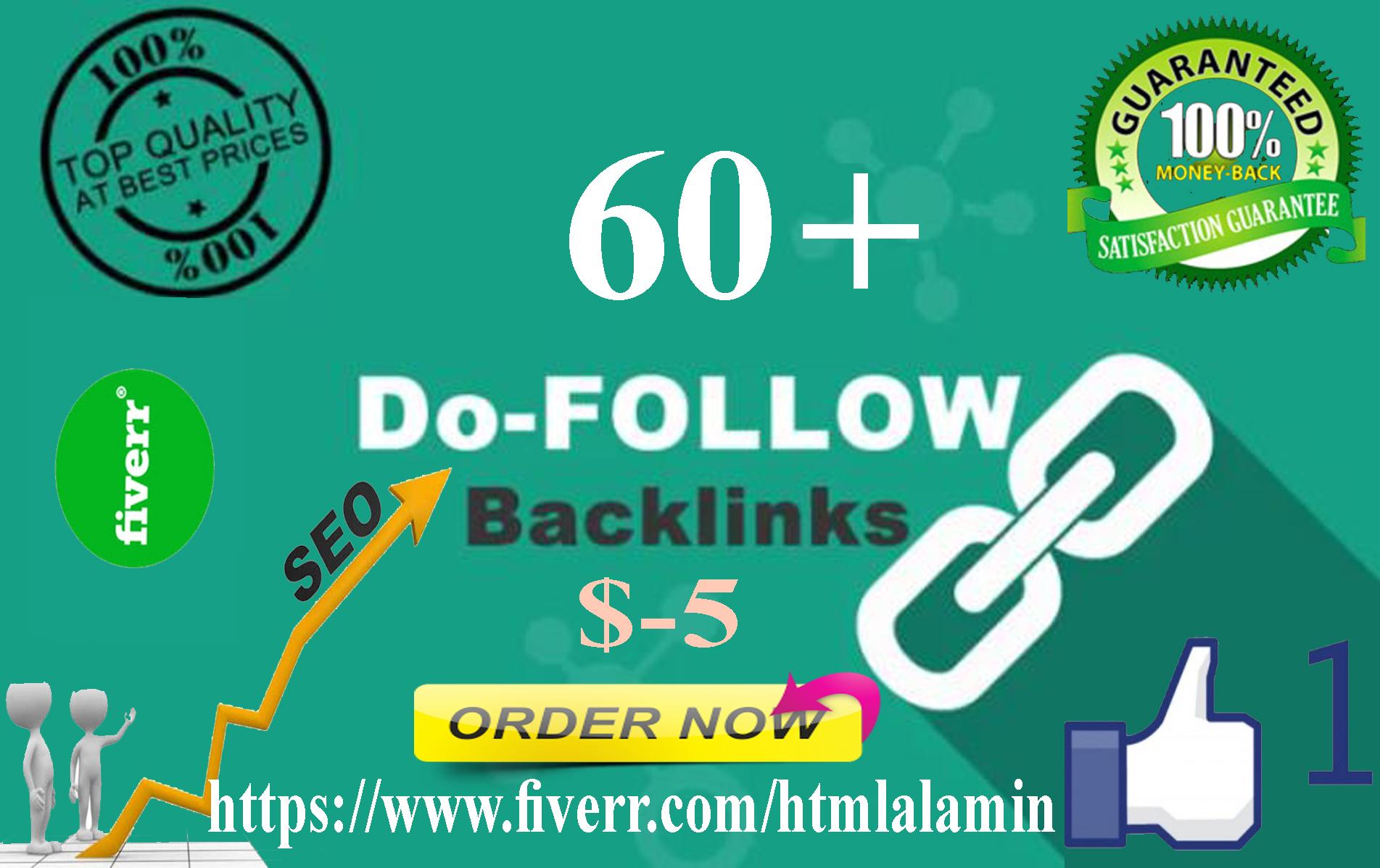 I Well Create 60 Dofollow Seo High Quality Backlinks Google Rankings site