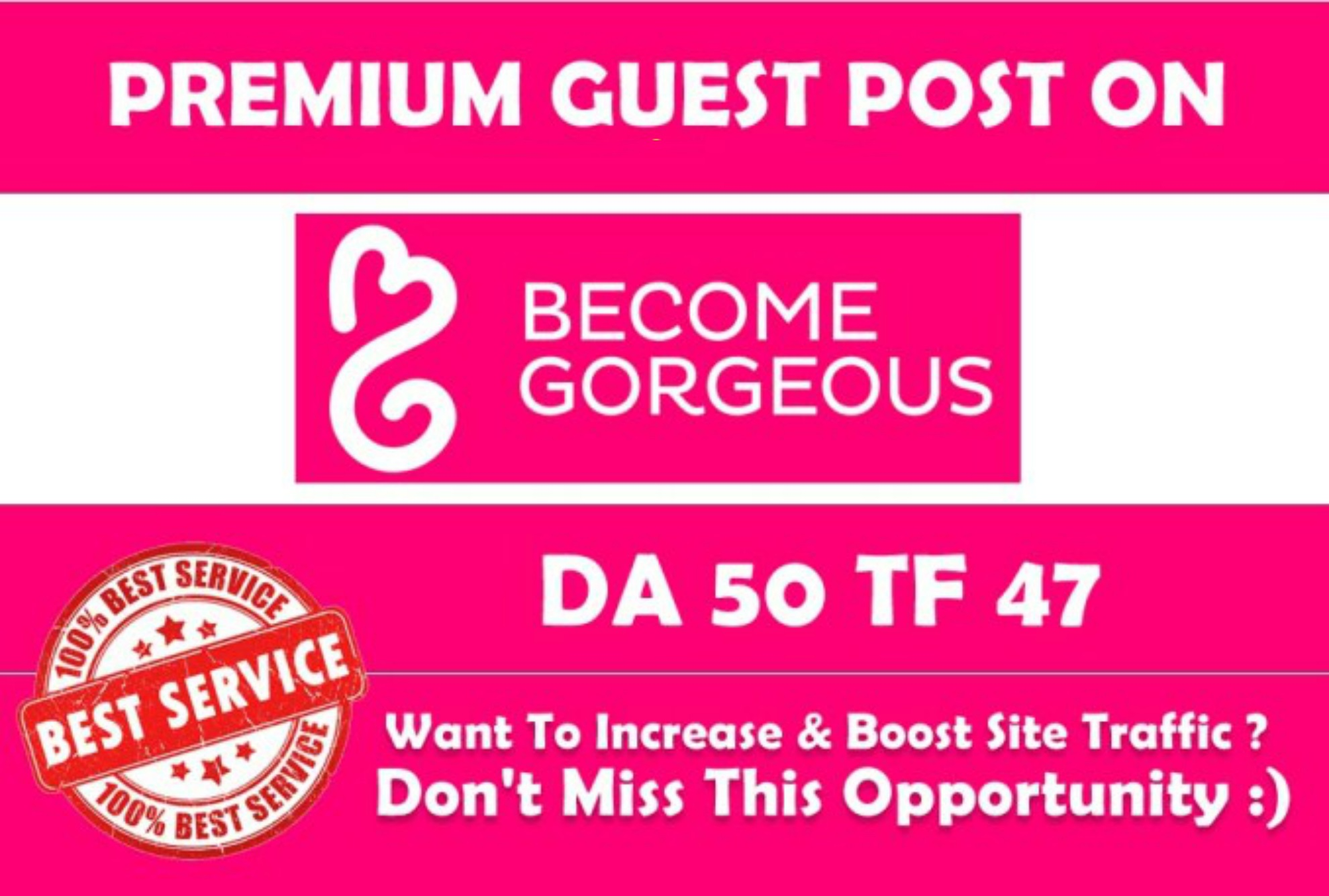Publish guest blog on Becomegorgeous.com with DOF strong  backlinks