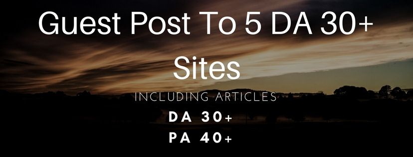 I Will Give You Guest Post To Five DA 20+ Sites, Including Articles