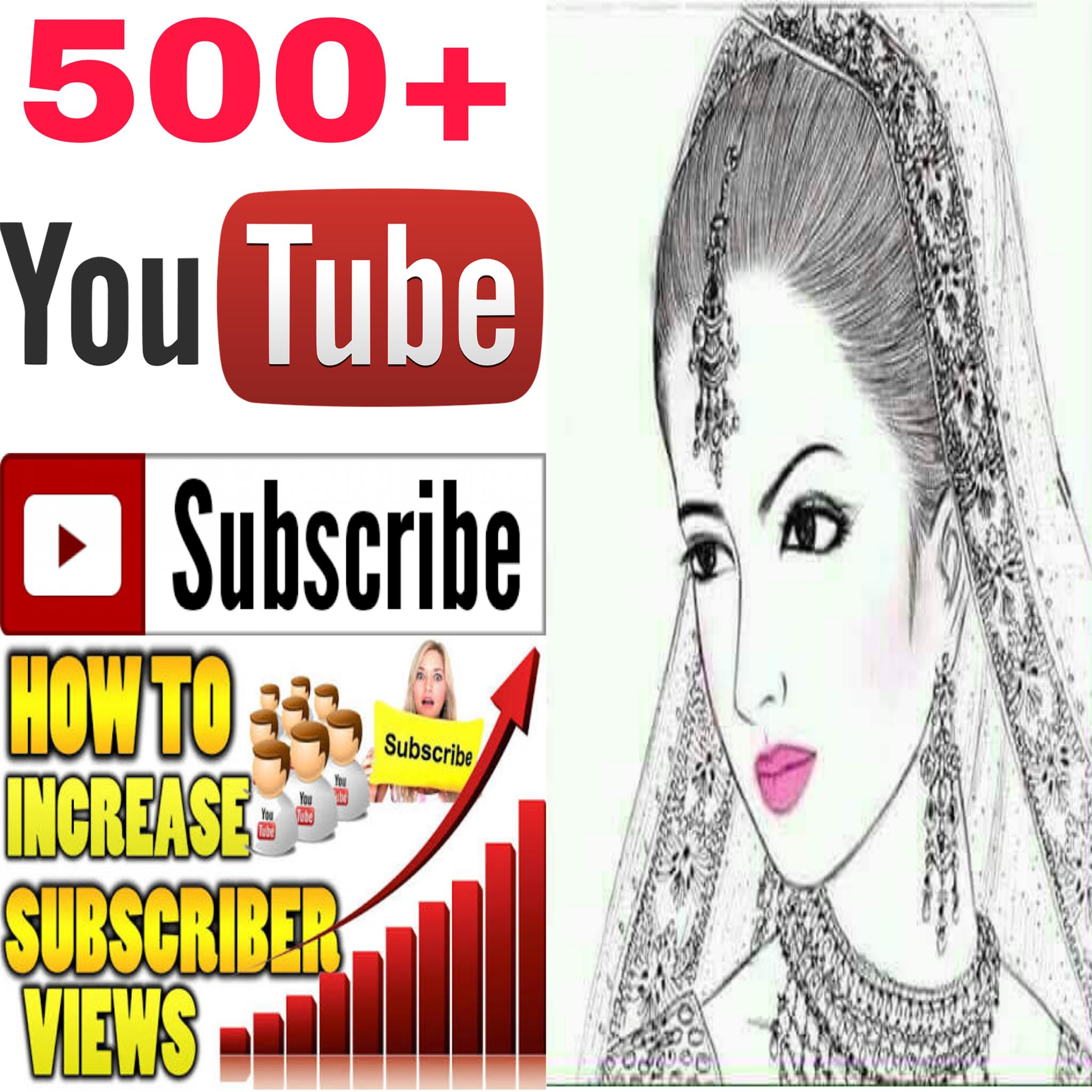 INSTANT provide manually  500+ must be NON-DROP guaranteed  channel SUB-SCRIBERS Human work  very fast delivery within 2-9 hours