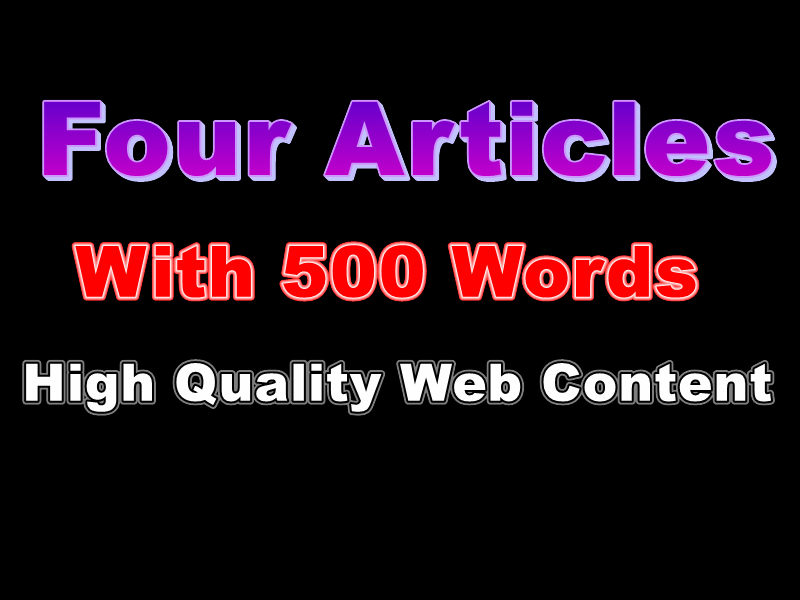 I will Write 400-500 Words Article for Your website or blog