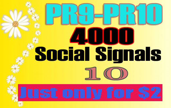 Provide 4,000 Effective SEO Social Signals, Quality Build for