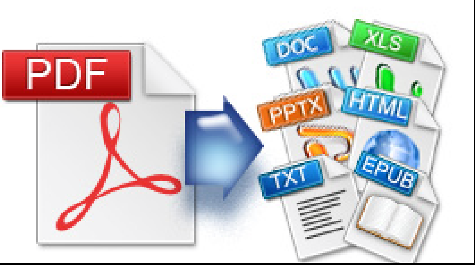 convert pdf to word, excel, images, ppt, epub