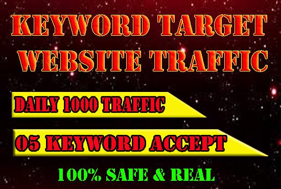 UNLIMITED KEYWORD TARGET REAL WEBSITE TRAFFIC