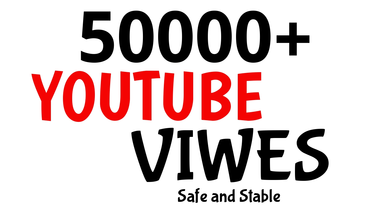 50000+ YouTube Views Very Fast Speed AND HIGH RENETION GUARANTEED