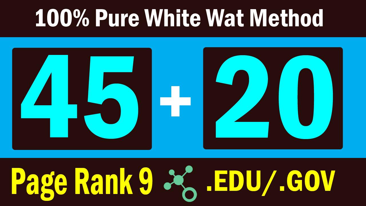 Create 45 PR 9 And 20 Gov Edu Backlinks For You