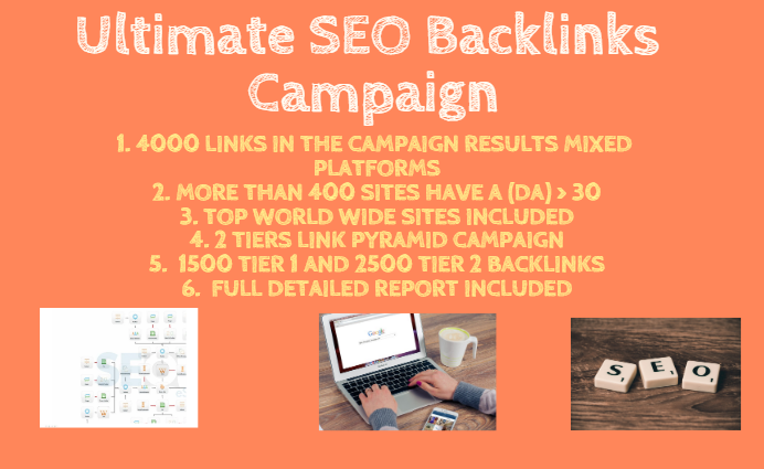 The Ultimate SEO Backlinks Campaign Over 4000 Links From Different Platforms