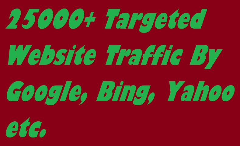 Drive 25000 Targeted Website Traffic By Google, Bing...