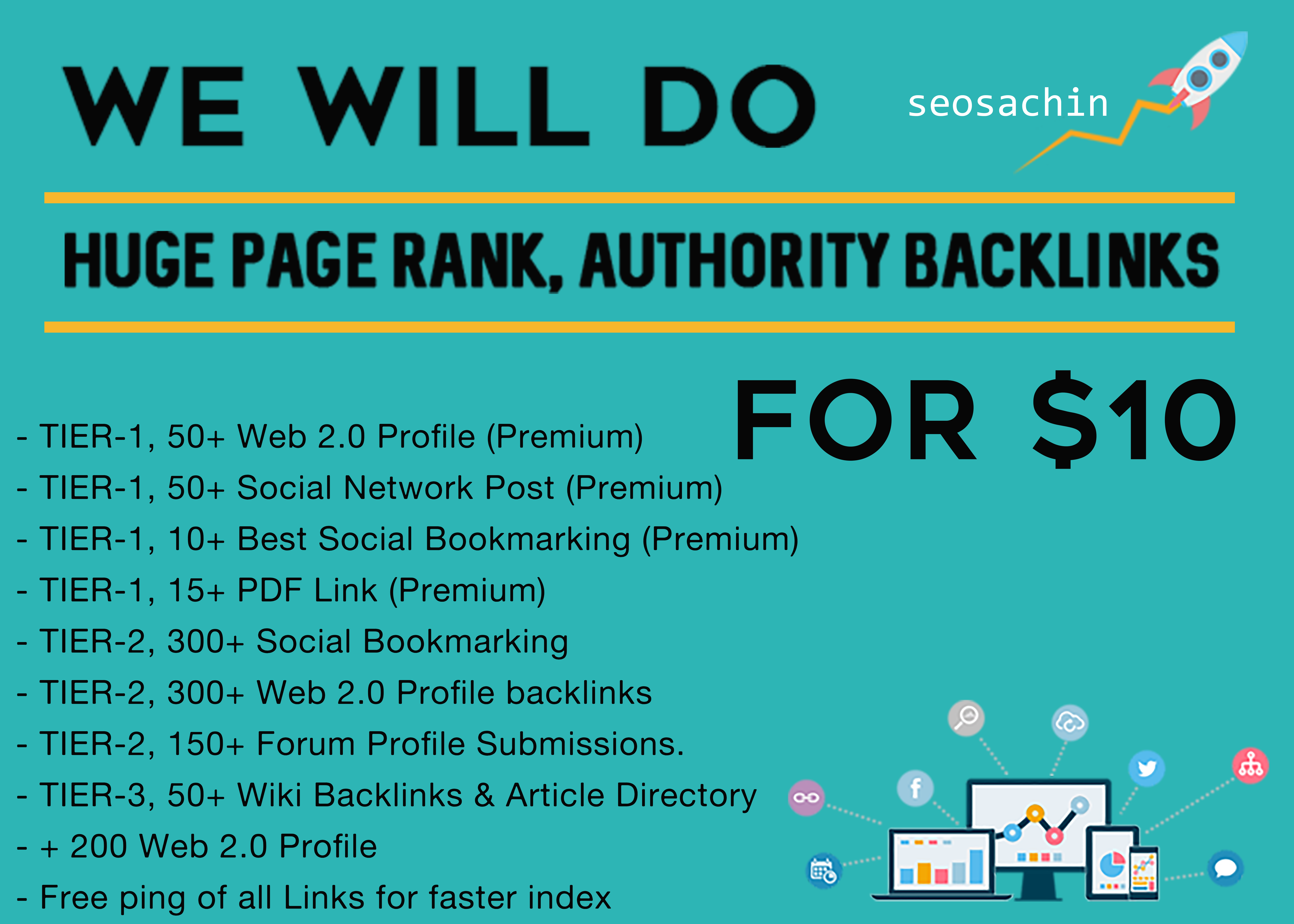 Multi-Tier Link Package, Thousand of backlinks from all Unique Domain