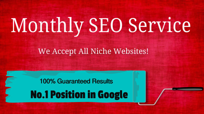 Try our Monthly SEO Services With Guaranteed Page 1 Ranking