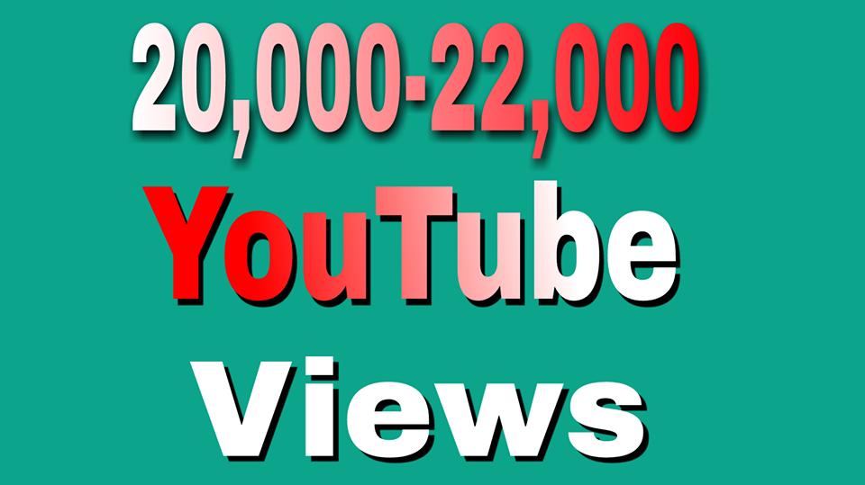 Safe 20,000 To 22,000 High Retention YouTube Views non drop Refill Guaranteed