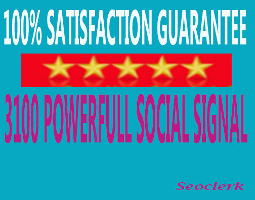 Give you 3150 High quality social signal