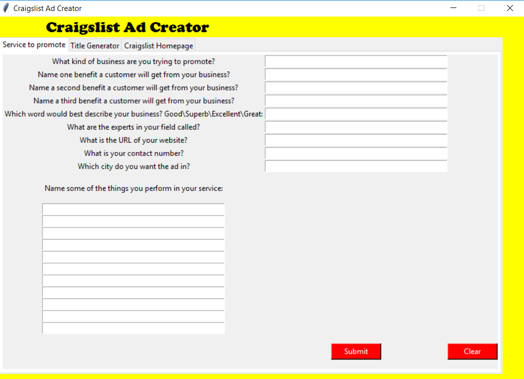 Generate Leads from Craigslist using this awesome Software