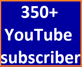 Safe 350+You-Tube Channel Subcribers Non Drop Refill guaranteed just