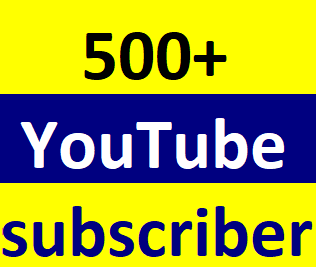 500+Youtube channel subcriber non drop Life time guaranteed 6-12 hours in complete