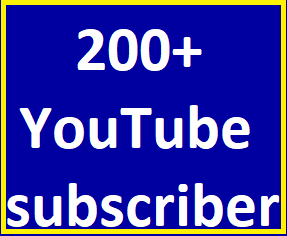 Safe 200+You-Tube Channel Subcribers Non Drop Refill guaranteed just