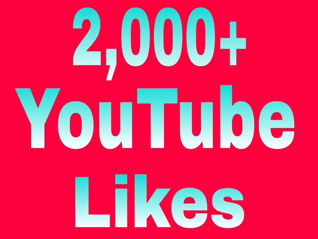 Guaranteed 2,000+You-Tube video Li-kes Split Available 6/12 hours in complete