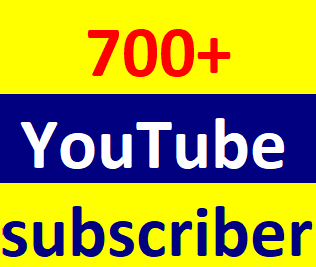700+Youtube channel subcriber non drop instant start 6-9 hours in complete