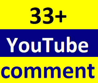 33+You'tube custom comment non drop guaranteed within 2-4 hours in complete Just