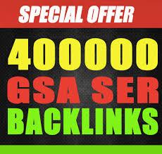 Provide 400,000 Gsa, Ser, Backlinks For Ranking Webs...