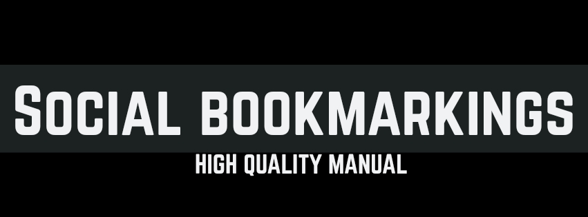 Provide 40 Manual High Quality Social Bookmarking Service