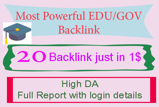 Make 20 EDU/GOV Profile backlinks All Unique domains